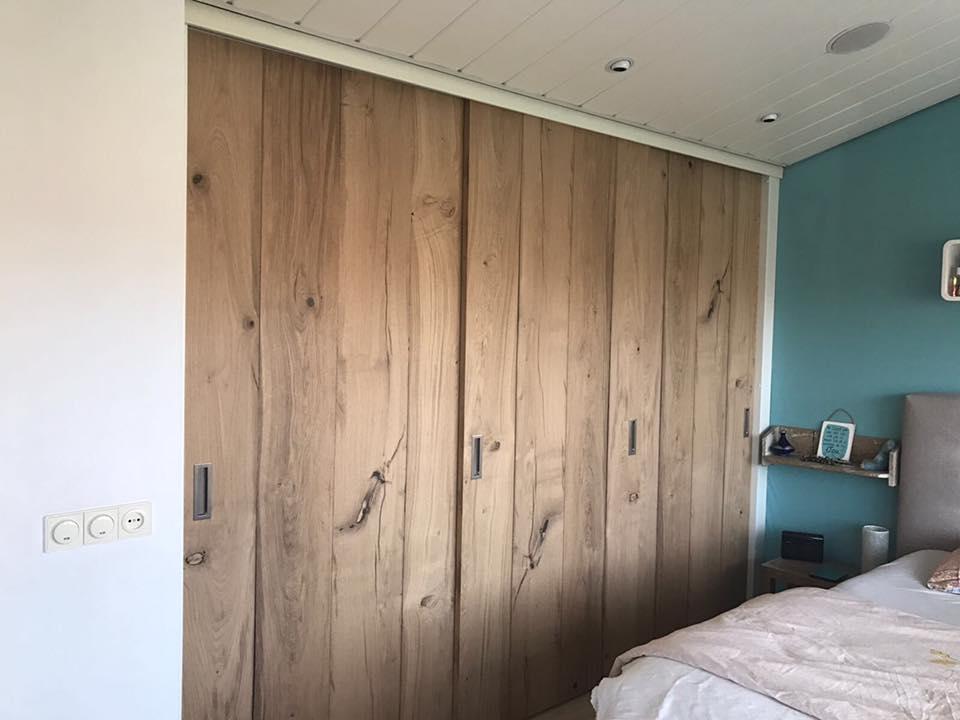 Kast Hout Staal : Kasten van hout en staal steigerhout eiken en sloophout maikku